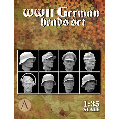 WWII GERMAN HEADS SET