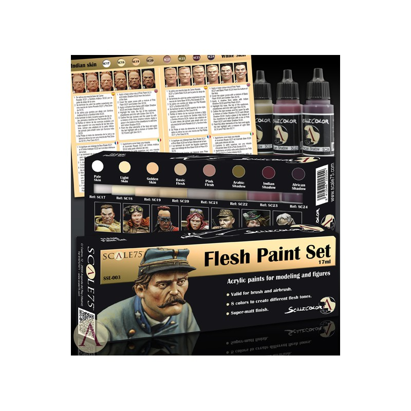 Flesh Paint Set Scale75 Between History And Legend