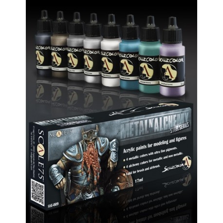METAL and ALCHEMY STEEL paint set
