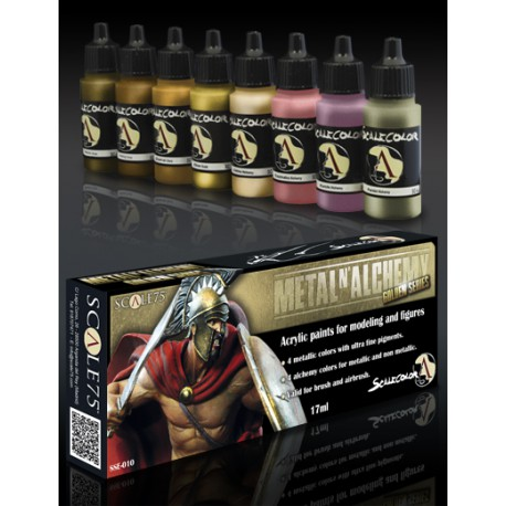 METAL and ALCHEMY GOLDEN paint set