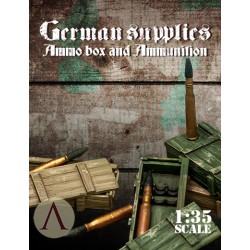 GERMAN SUPPLIES - AMMO BOX AND AMMUNITION