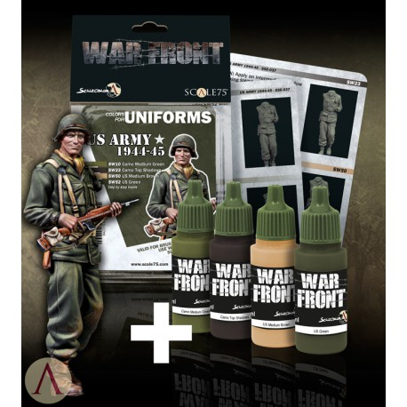 PACK US LIEUTENANT + US ARMY 1944-45 PAINT SET