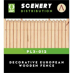 DECORATIVE EUROPEAN WOODEN FENCE