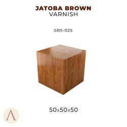 JATOBA BROWN VARNISH 50 X 50 X 50