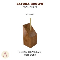 JATOBA BROWN VARNISH BUST 35 X 35 BEVEL 75