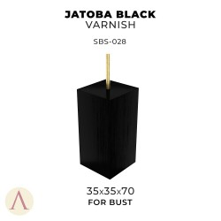 JATOBA BLACK VARNISH BUST 35 X 35 X 70
