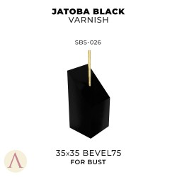 JATOBA BLACK VARNISH BUST 35 X 35 BEVEL 75